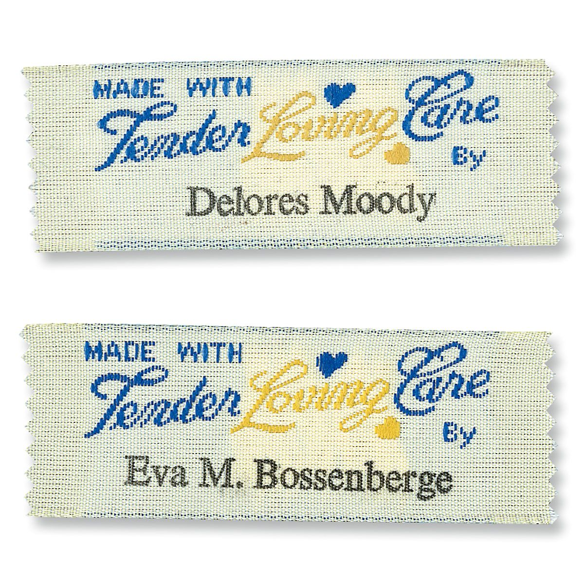 Made With Tender Loving Care By Sewing Labels