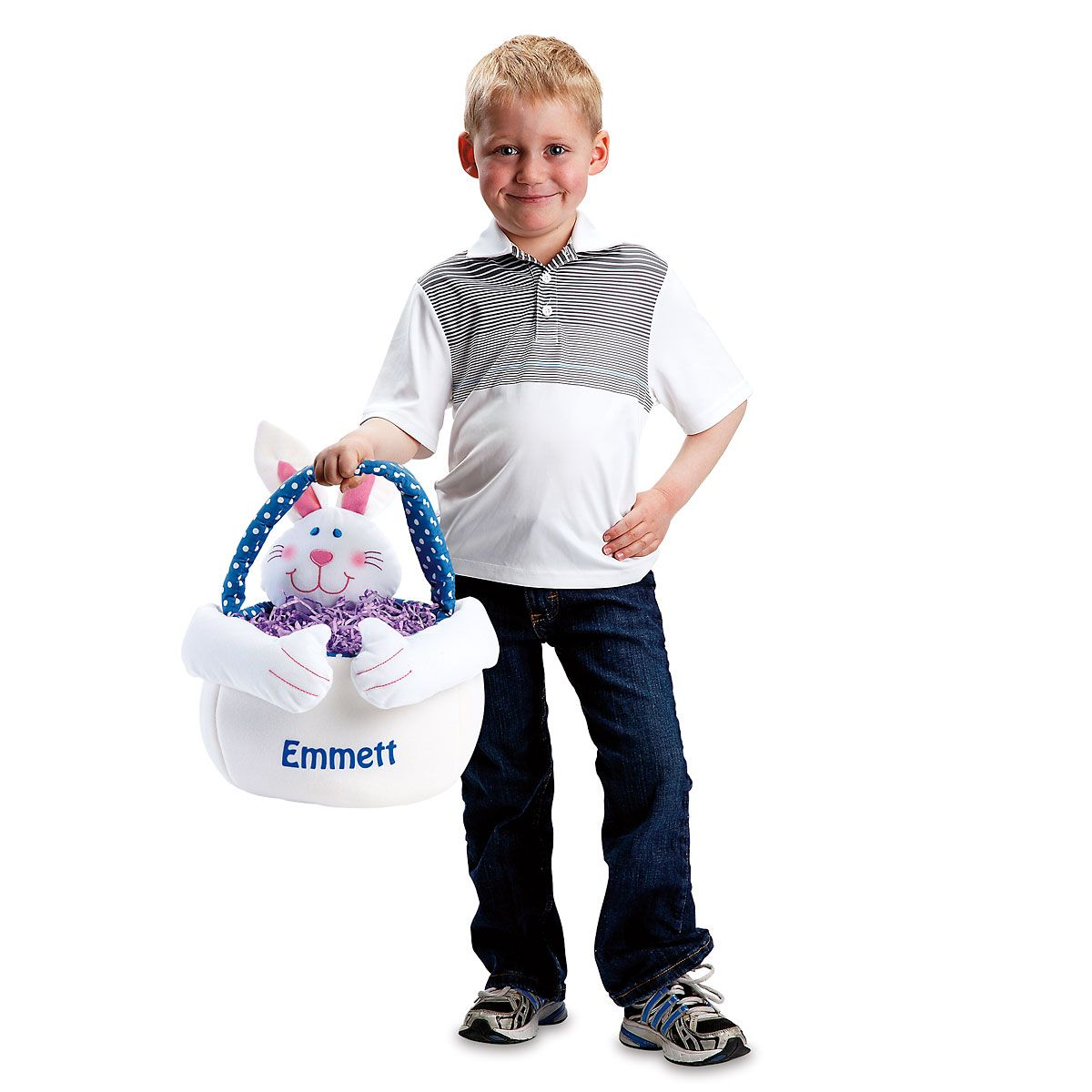Kids Personalized Easter Bunny Tote