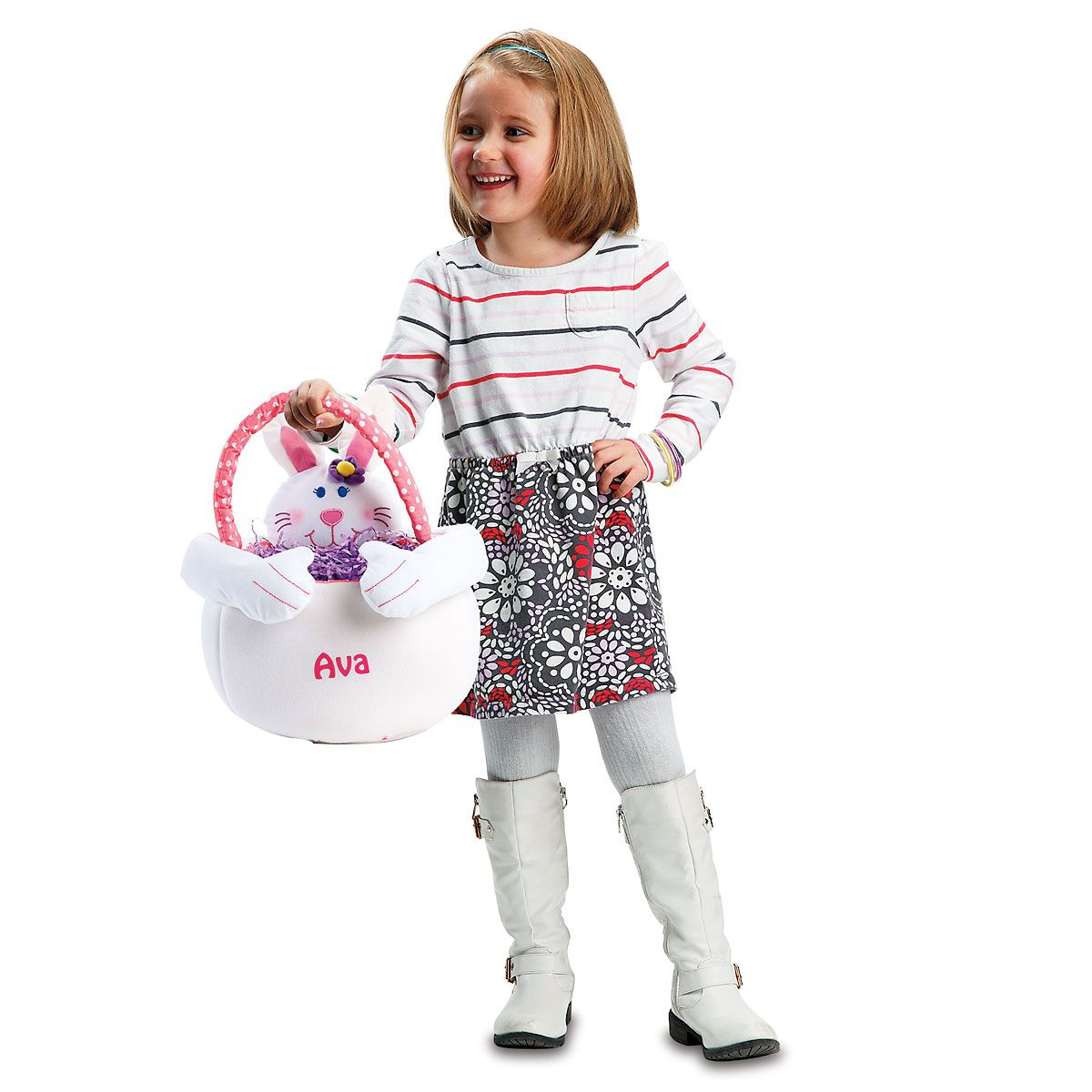 Easter Bunny Personalized Tote-Girl Bunny