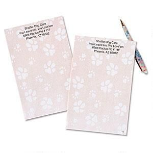 Paw Print Personalized Notepads