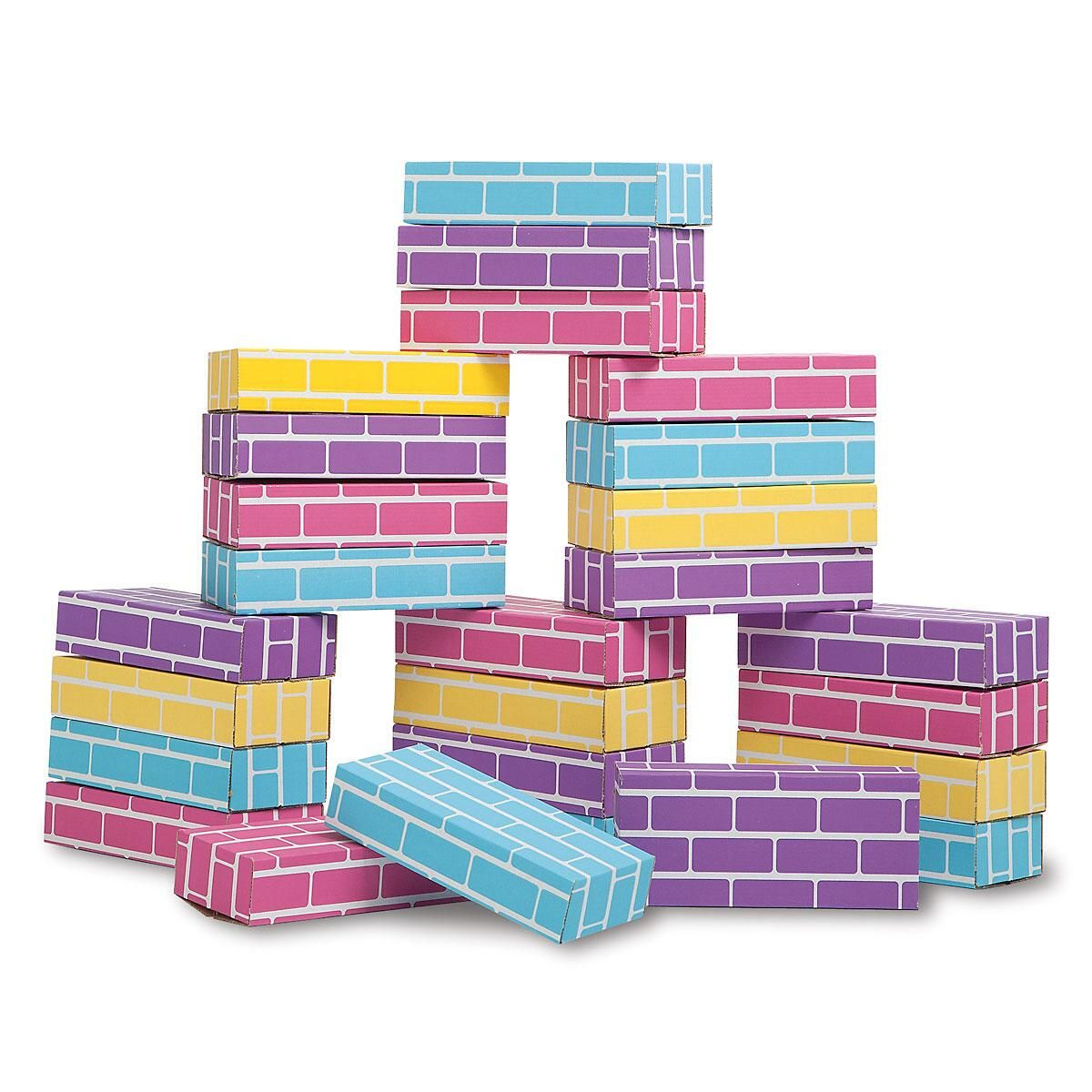 Pastel Building Blocks - Set of 24