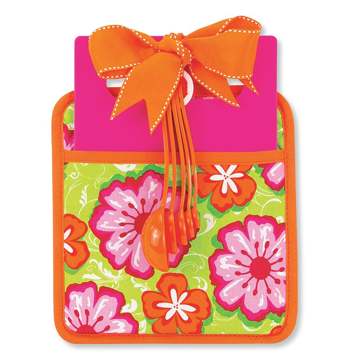 Floral Pot Holder Gift Set