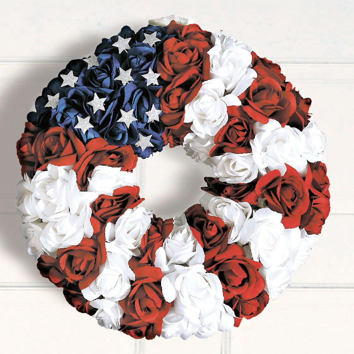 Patriotic Roses Wreath
