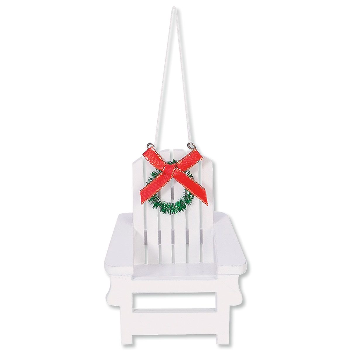 Adirondack Chair Beachy Christmas Ornament