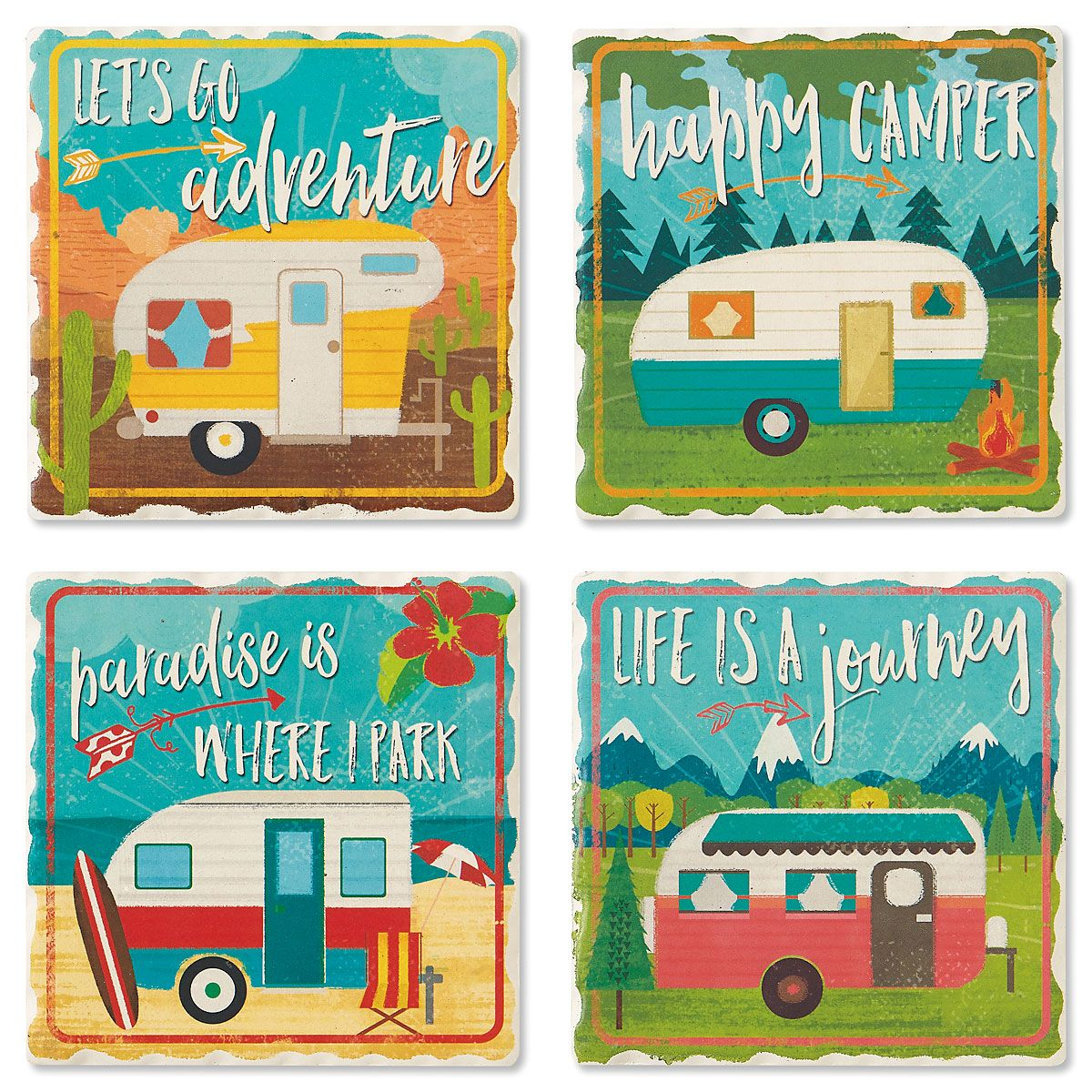 Retro Camper Coasters
