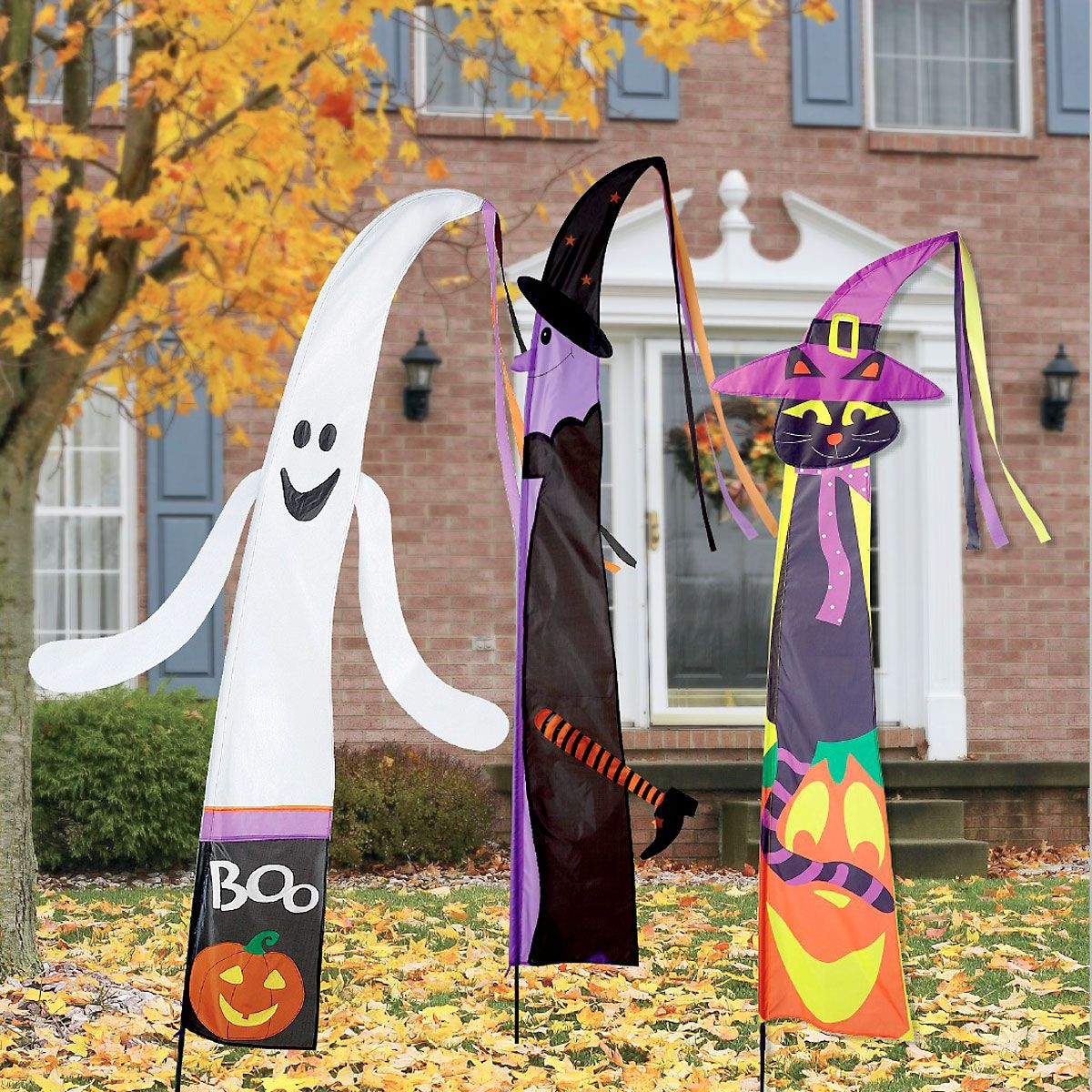 Ghost & Witch Fairy Tale Halloween Flag