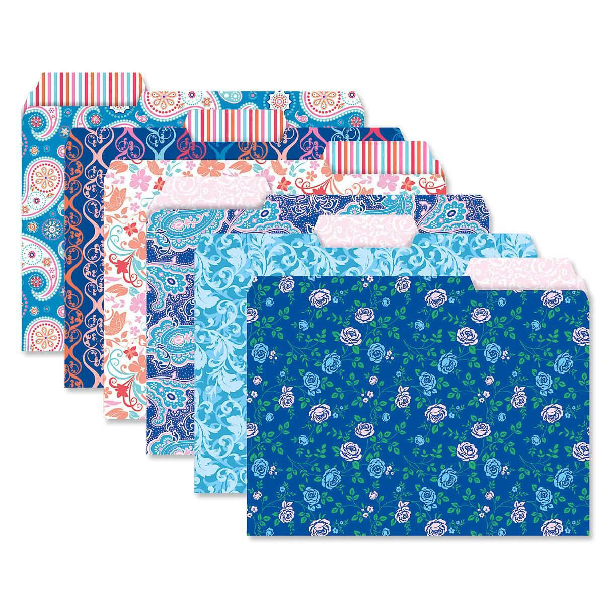 Floral and Paisley File Folder