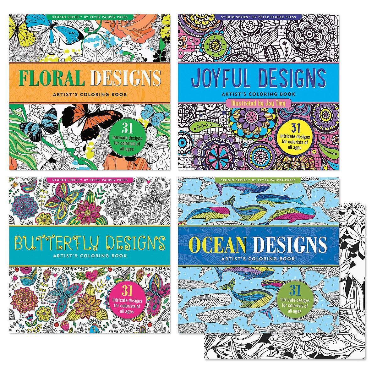 Coloring Books for Adults - 4 Pack