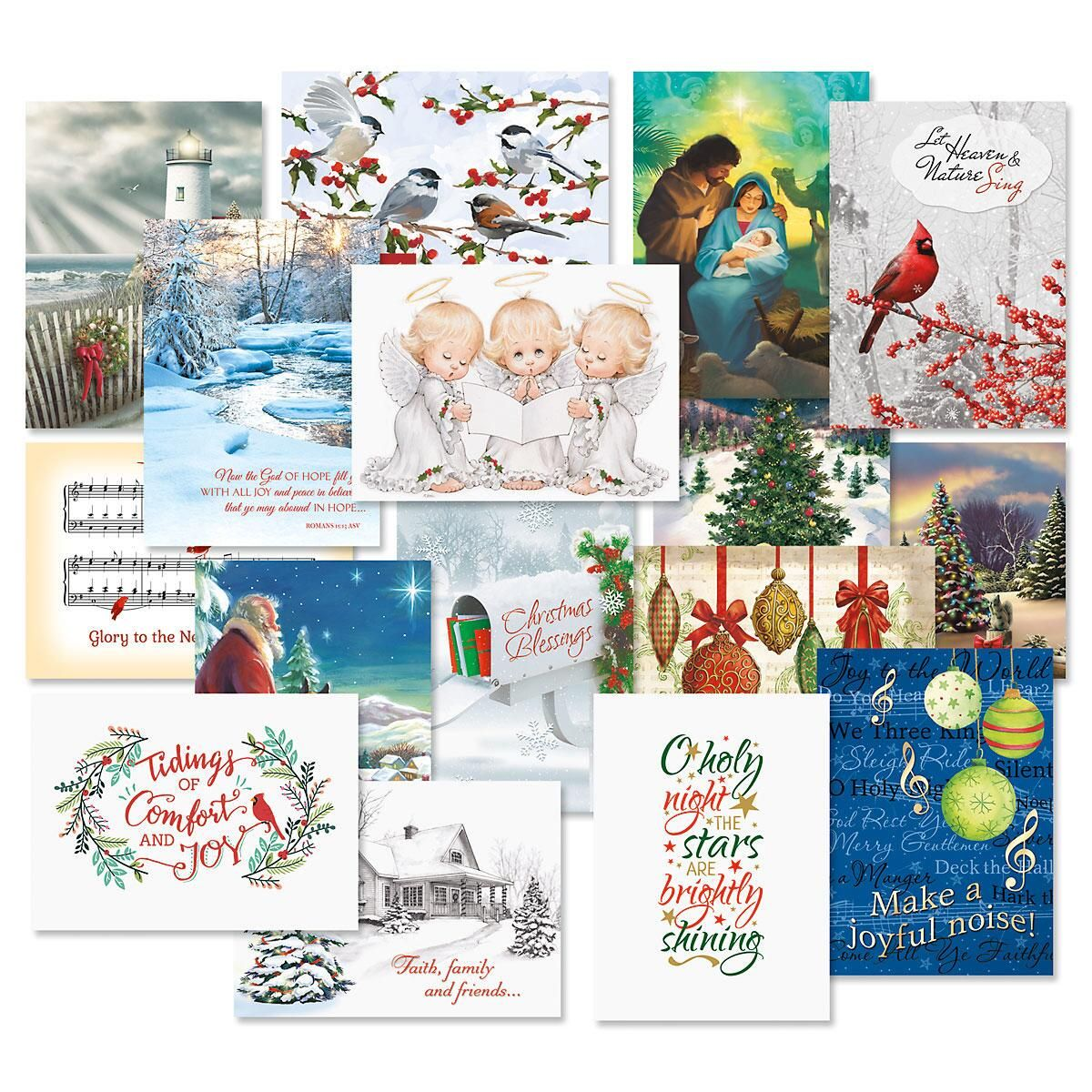 Expressions of Faith® Christmas Card Combo Packs - Set of 64