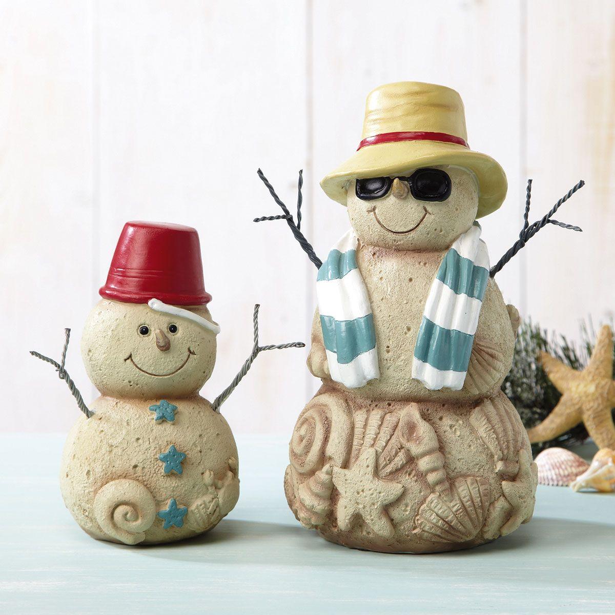 Sand Snowman Figurines