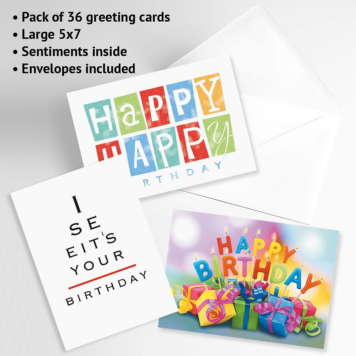 Mega Birthday Greeting Cards Value Pack