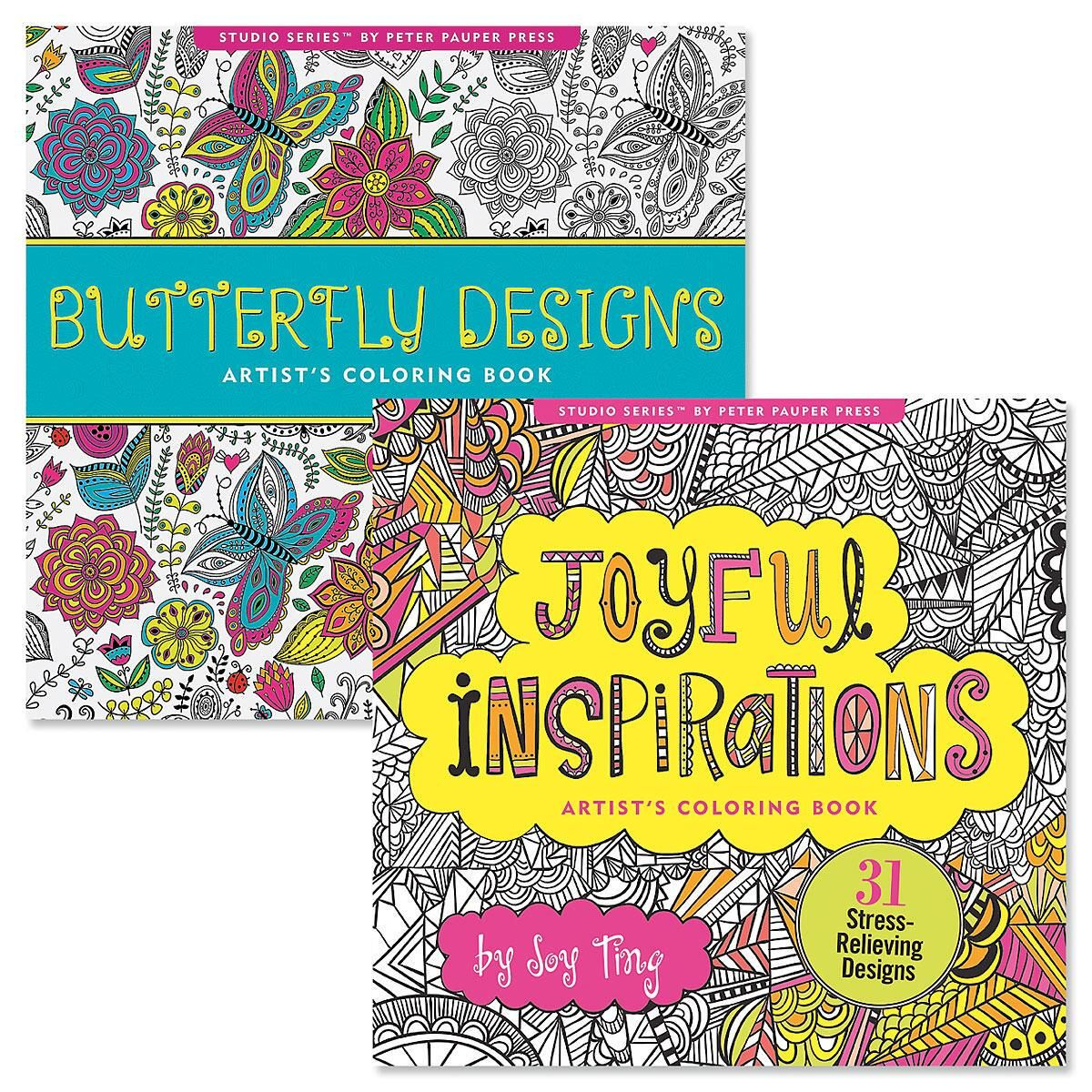 Butterfly and Joyful Adult Coloring Books