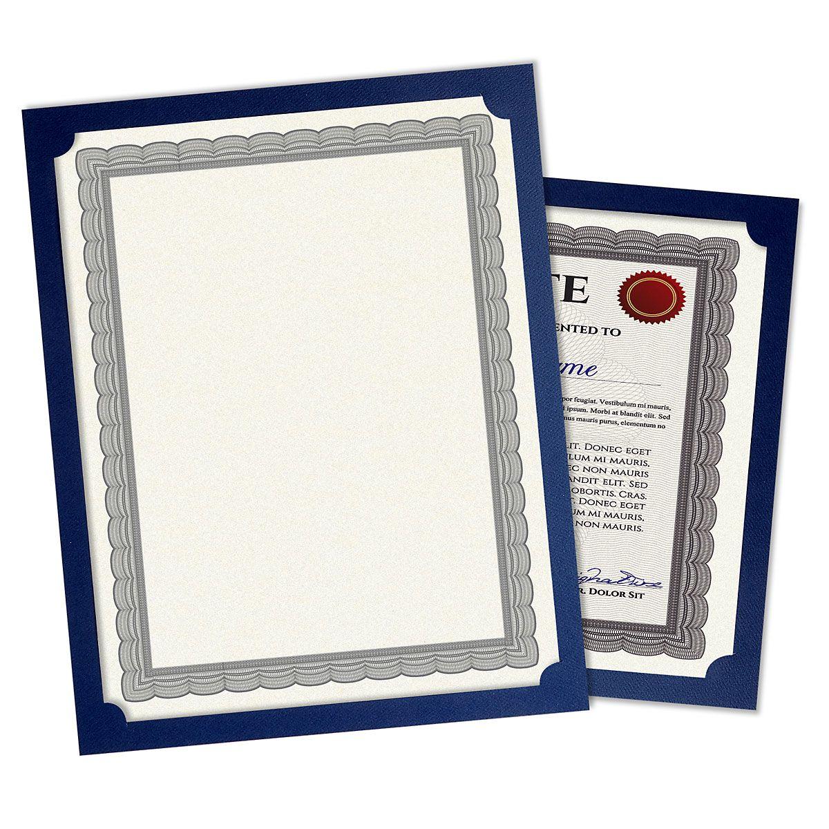Plain Blue Certificate Holders
