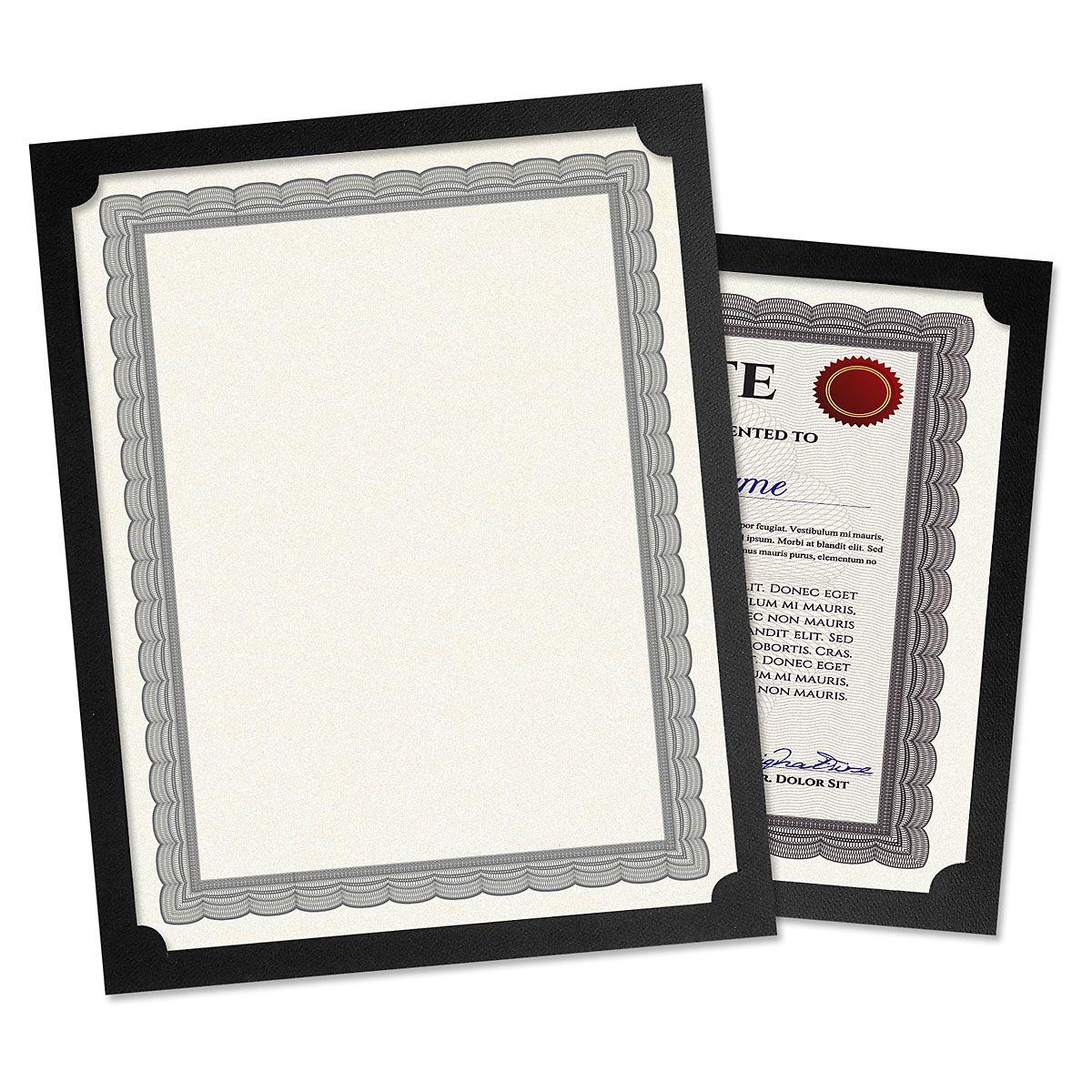 Plain Black Certificate Holder - Set of 50