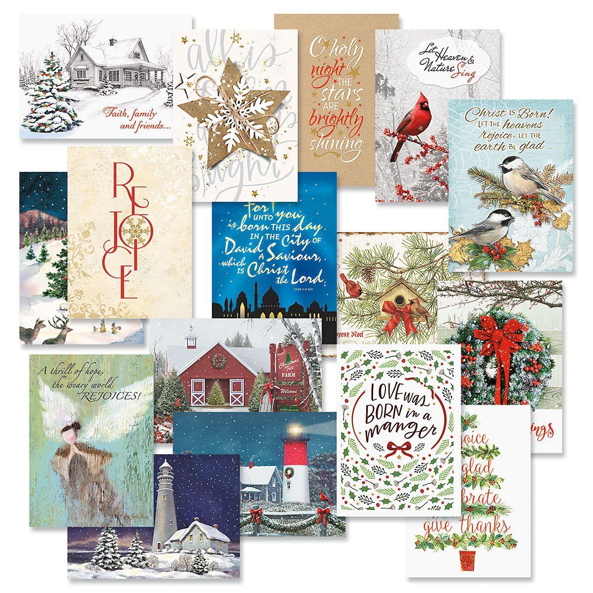 Faith Christmas Card Value Pack - Set of 64