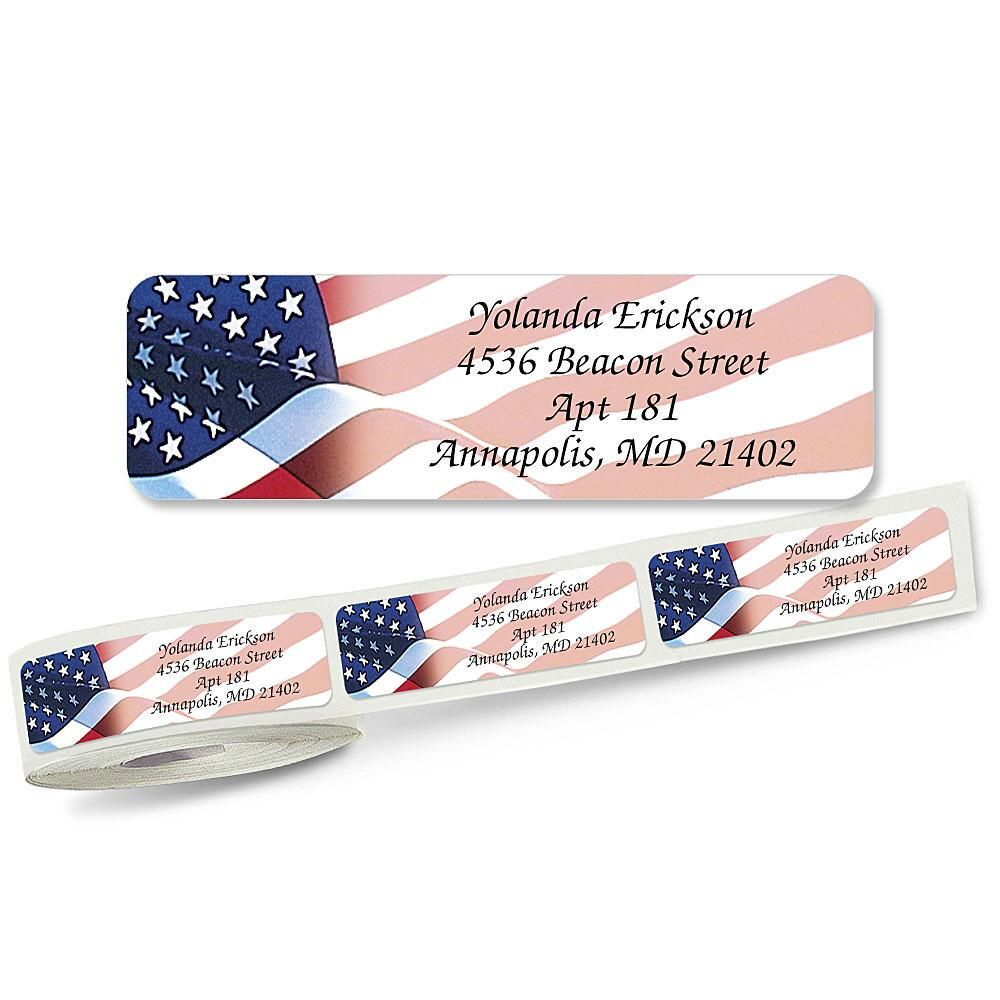 Flag  Designer Rolled Address Labels