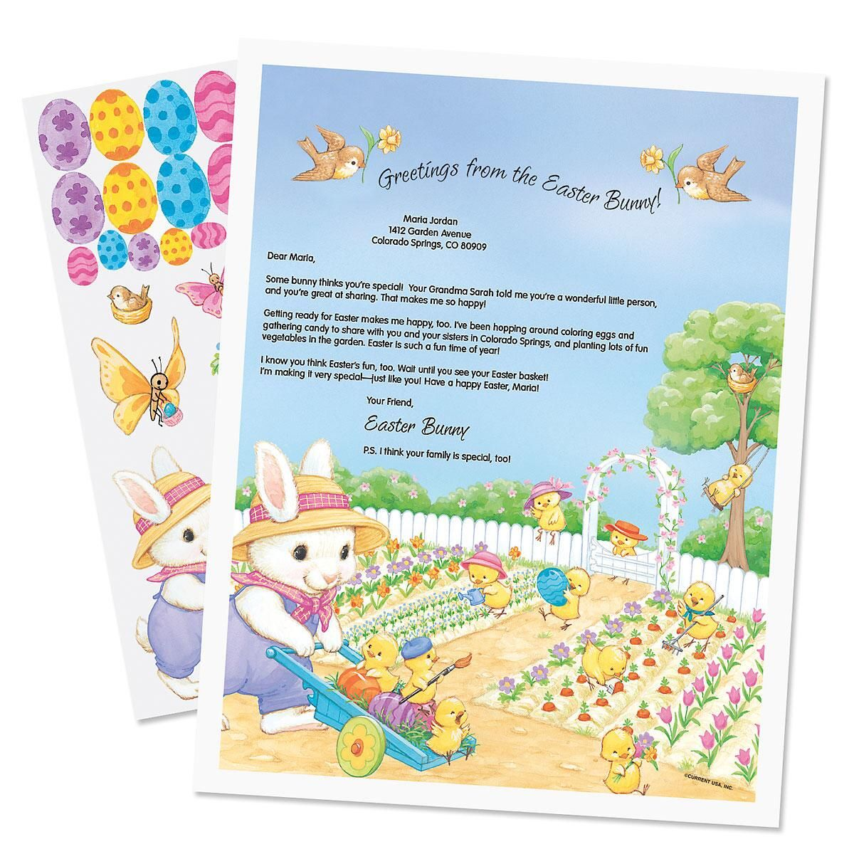 Easter Bunny Letter with Stickers