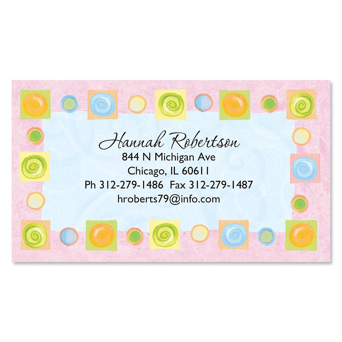 Border Blocks Business Cards