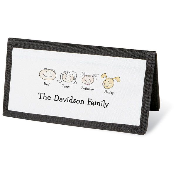Happy Family Personal Checkbook Cover-4 Faces-082423D