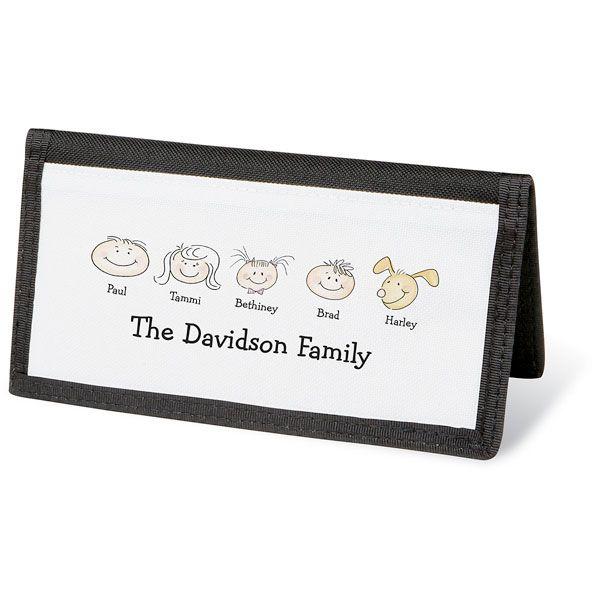 Happy Family Personal Checkbook Cover-5 Faces-082423E
