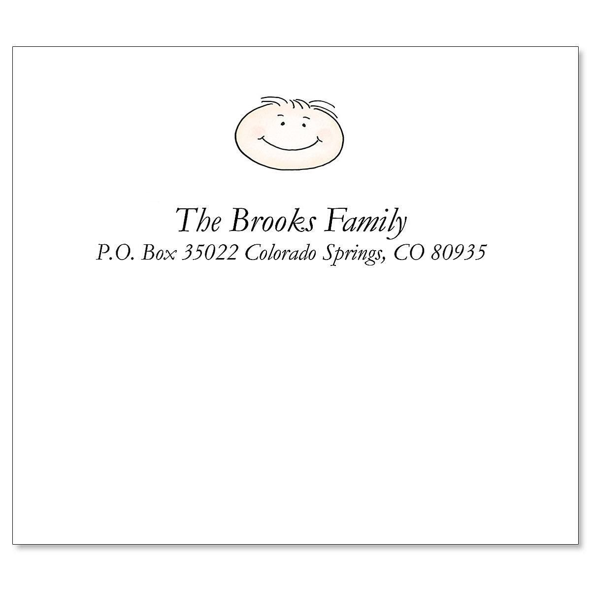 Happy Family Shipping Mailing Package Label