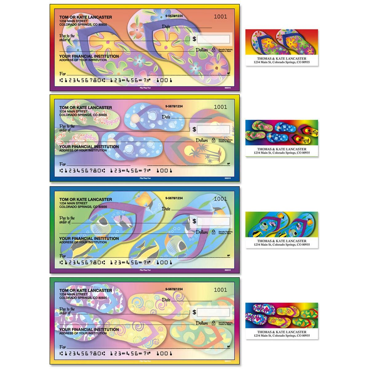 Flip Flop Fun Single Checks with Matching Address Labels