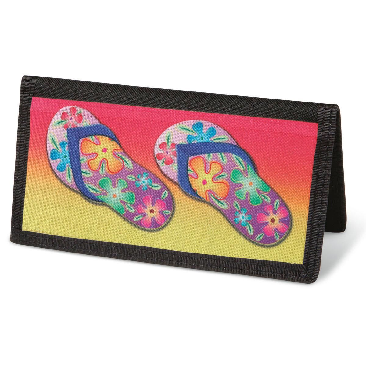 Flip-Flops Fun  Checkbook Cover - Non-Personalized