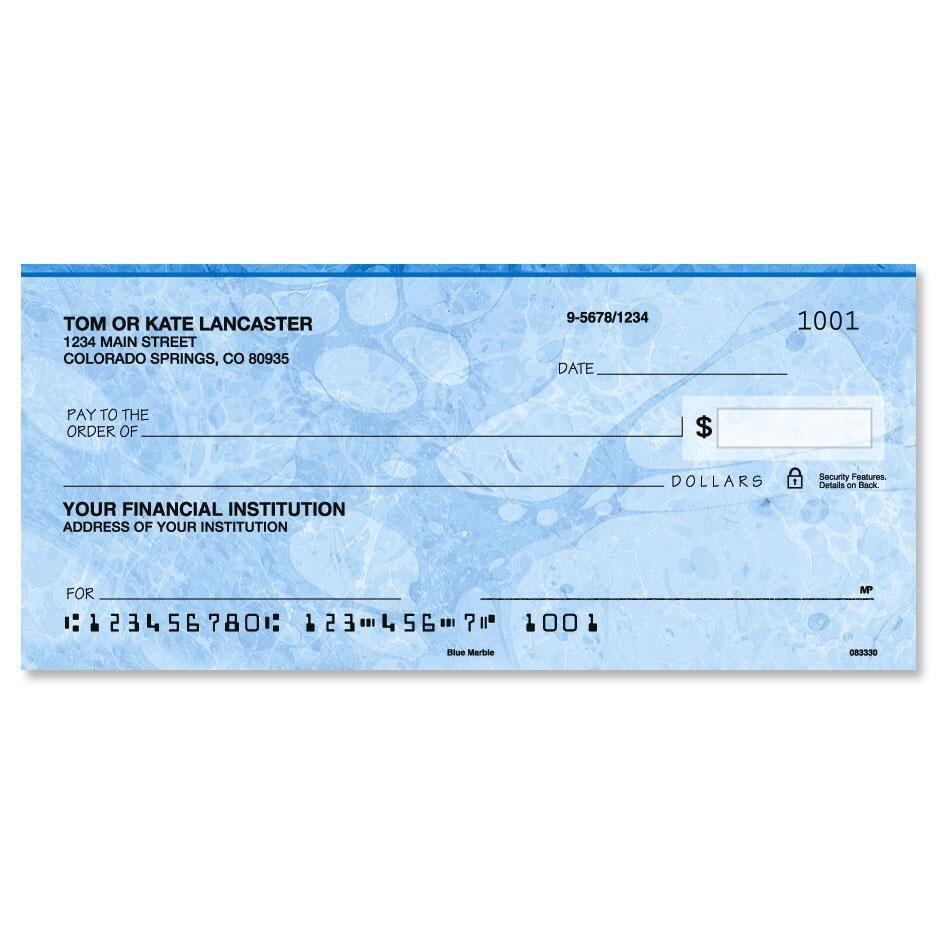 Blue Marble  Single Checks