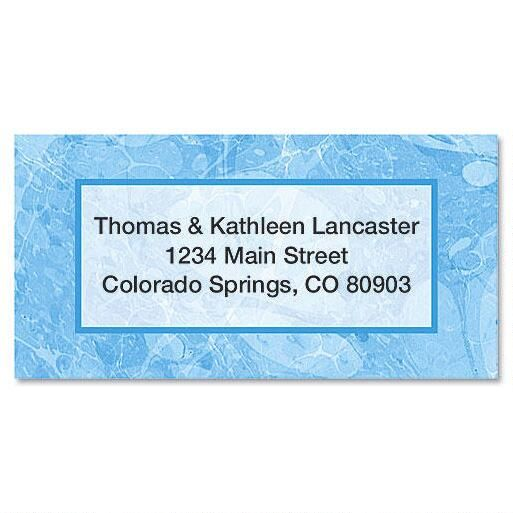 Blue Marble Border Address Labels
