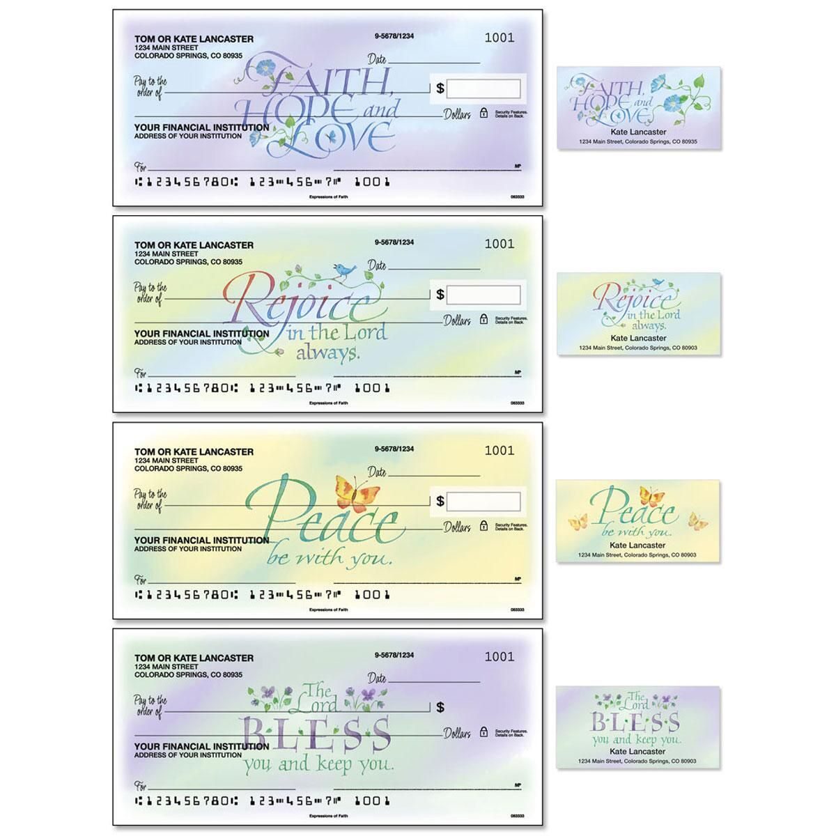 Expressions of Faith® Single Checks with Matching Address Labels
