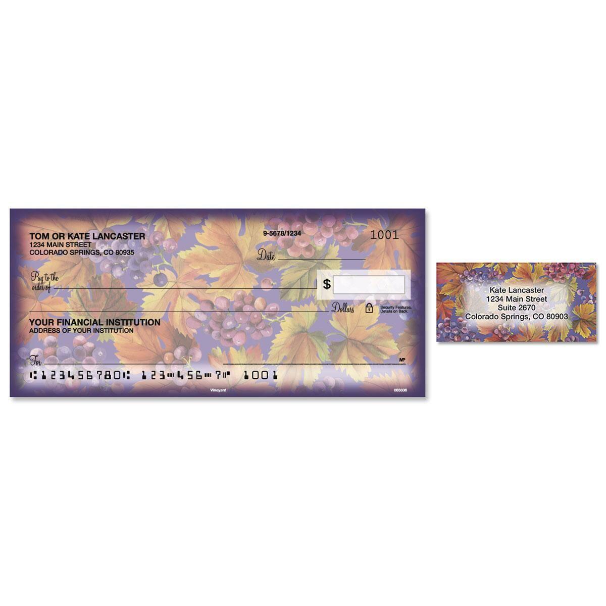 Vineyard Single Checks with Matching Address Labels