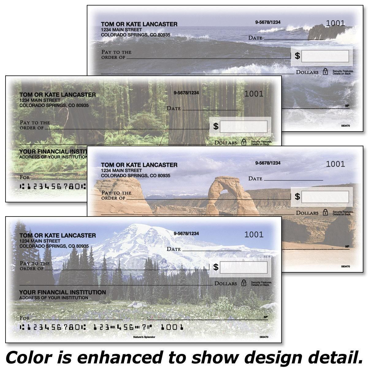 Nature's Splendor  Single Checks