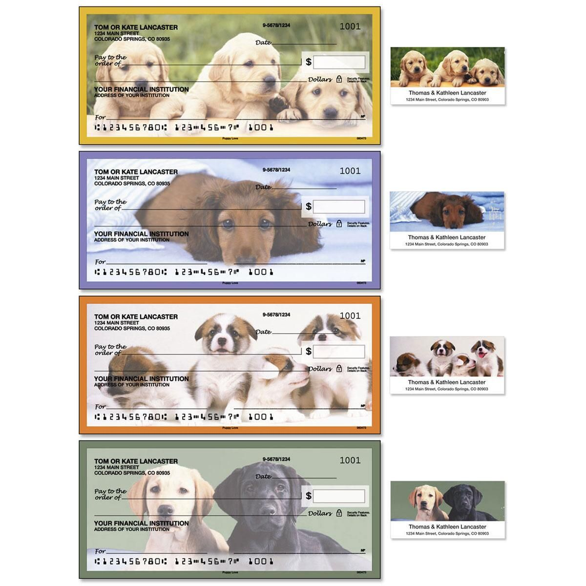 Puppy Love Duplicate Checks with Matching Address Labels