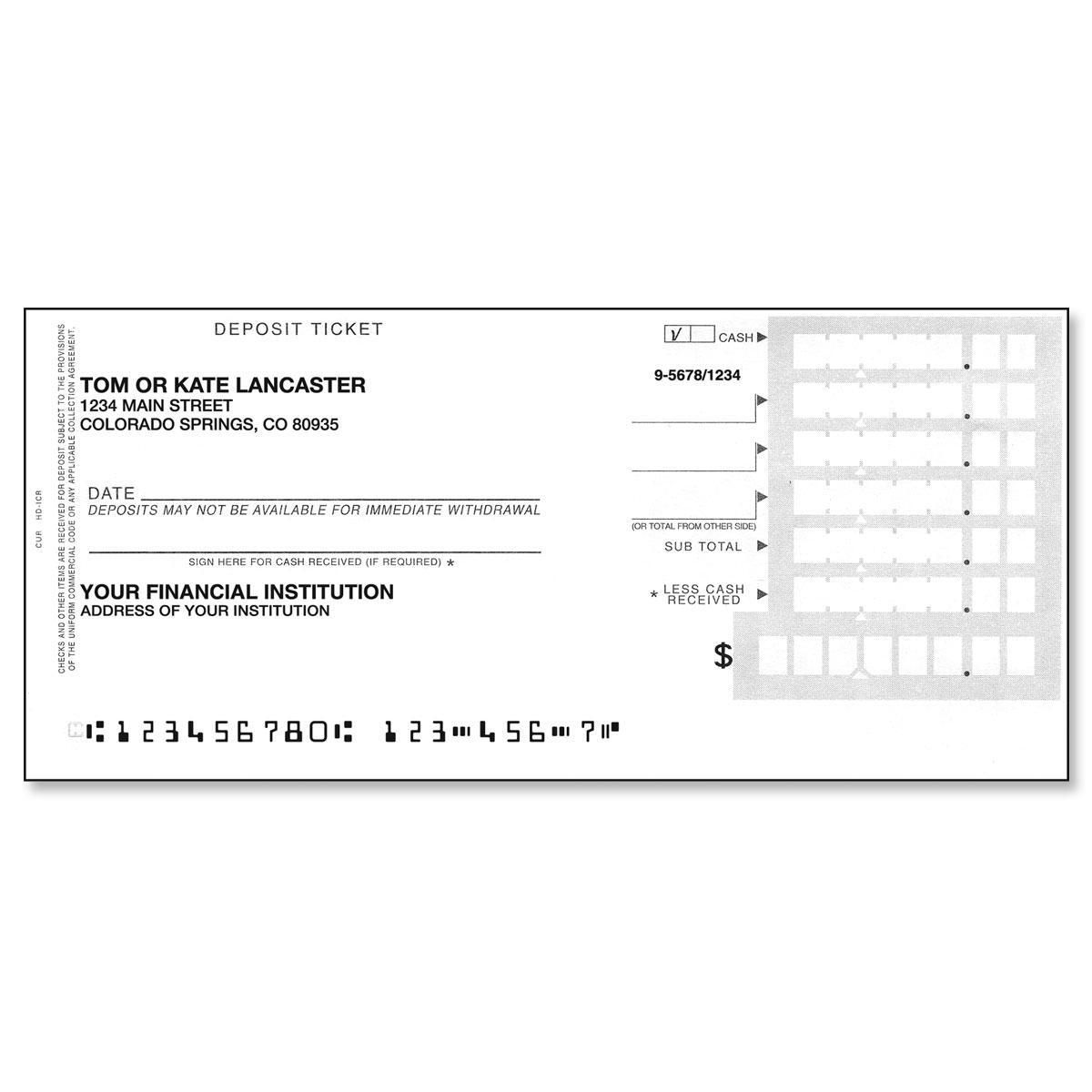 Deposit Slips Set of 200 Singles