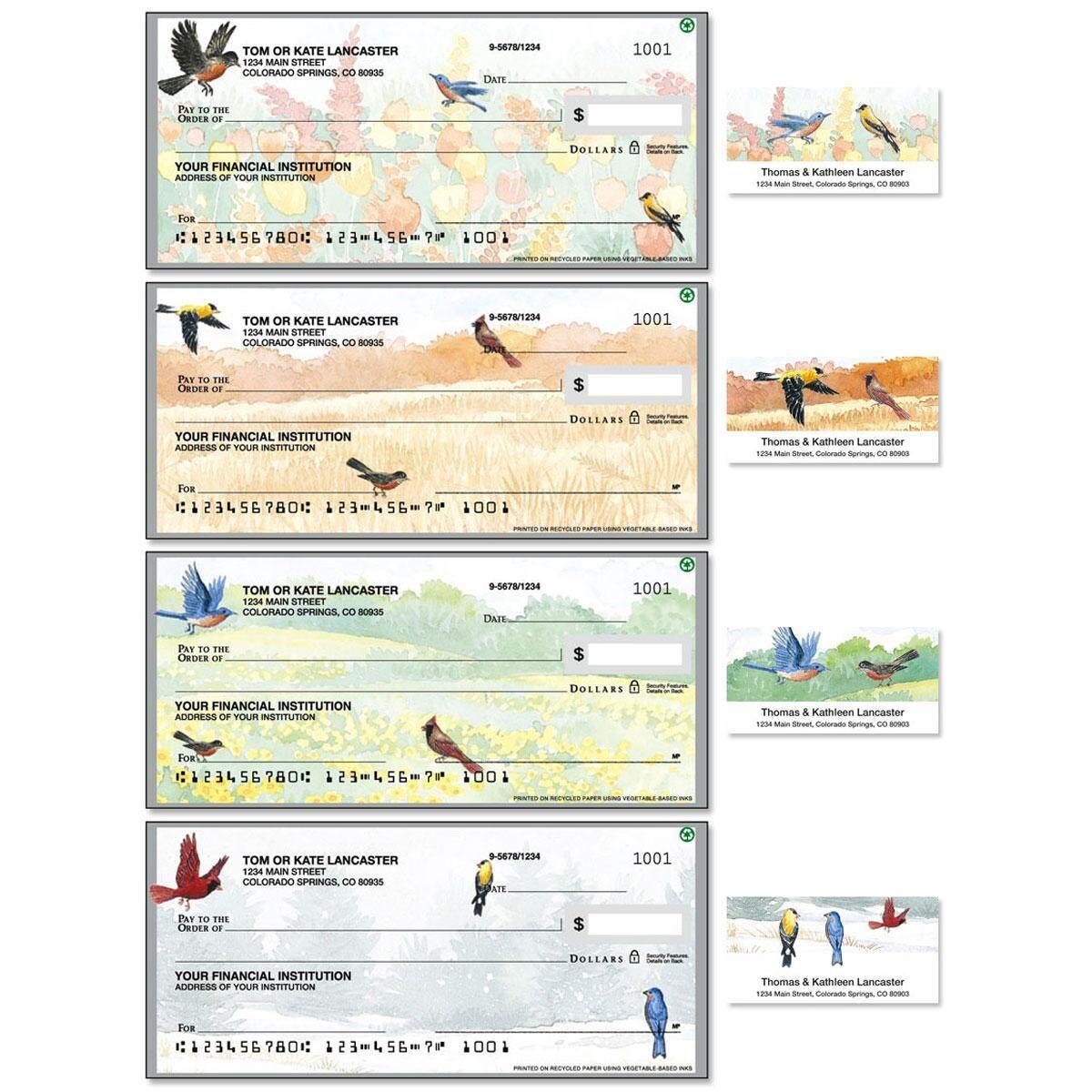 Wildbirds Single Checks with Matching Address Labels