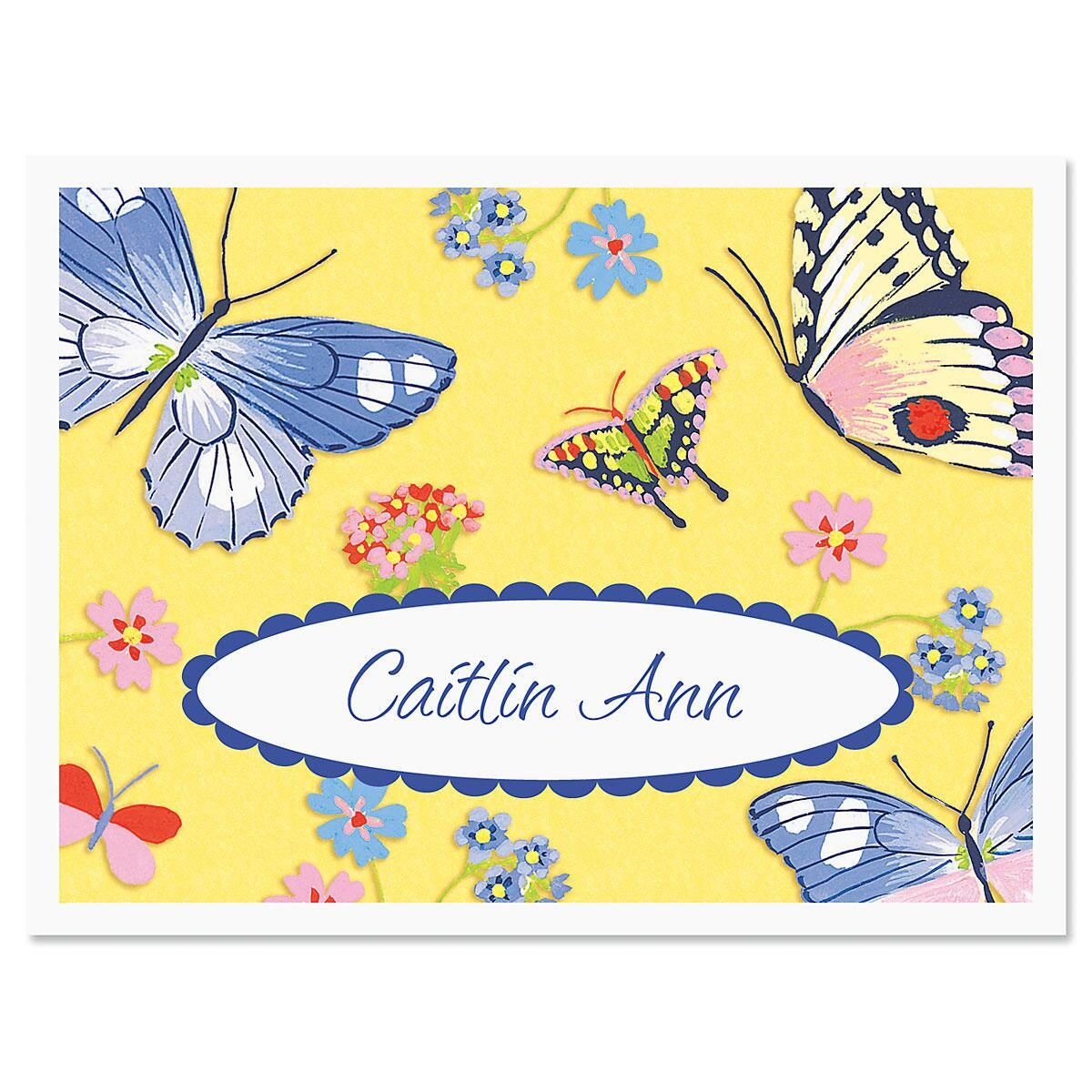 Beautiful Butterflies Note Cards