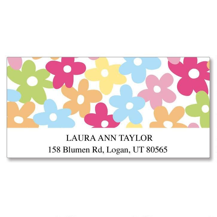 Mini Posies Deluxe Address Labels