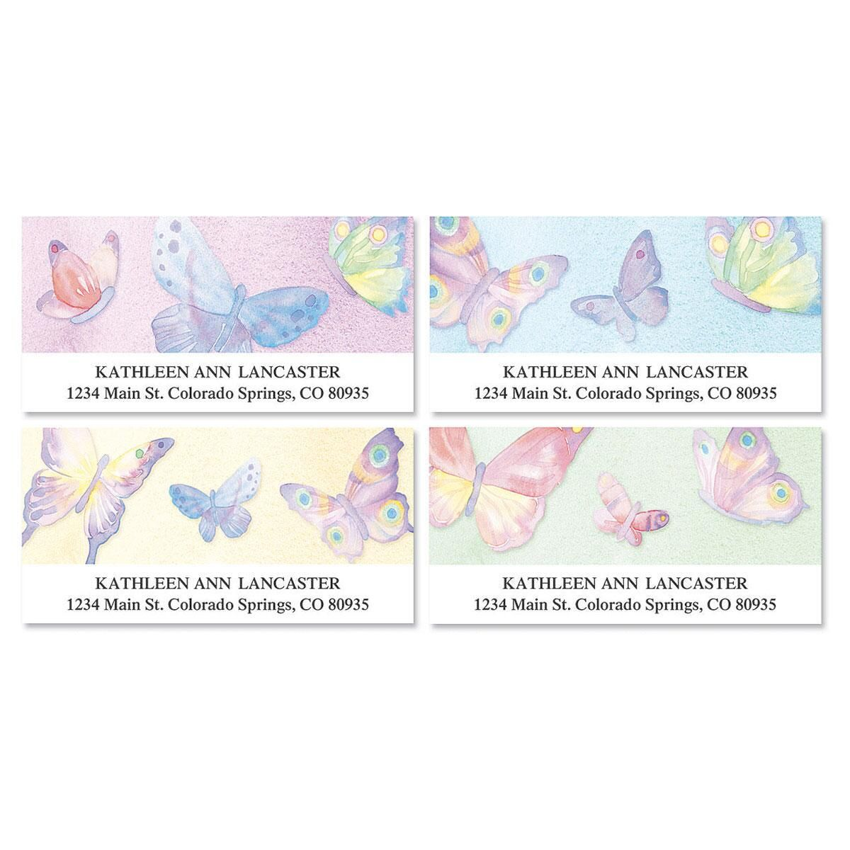 Watercolor Wings Deluxe Address Labels  (4 designs)