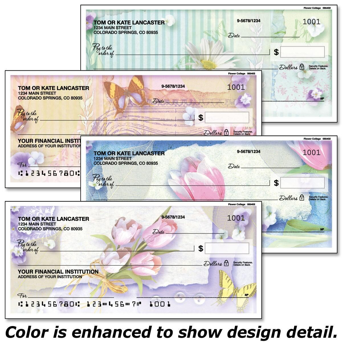 Floral Collage Single Checks
