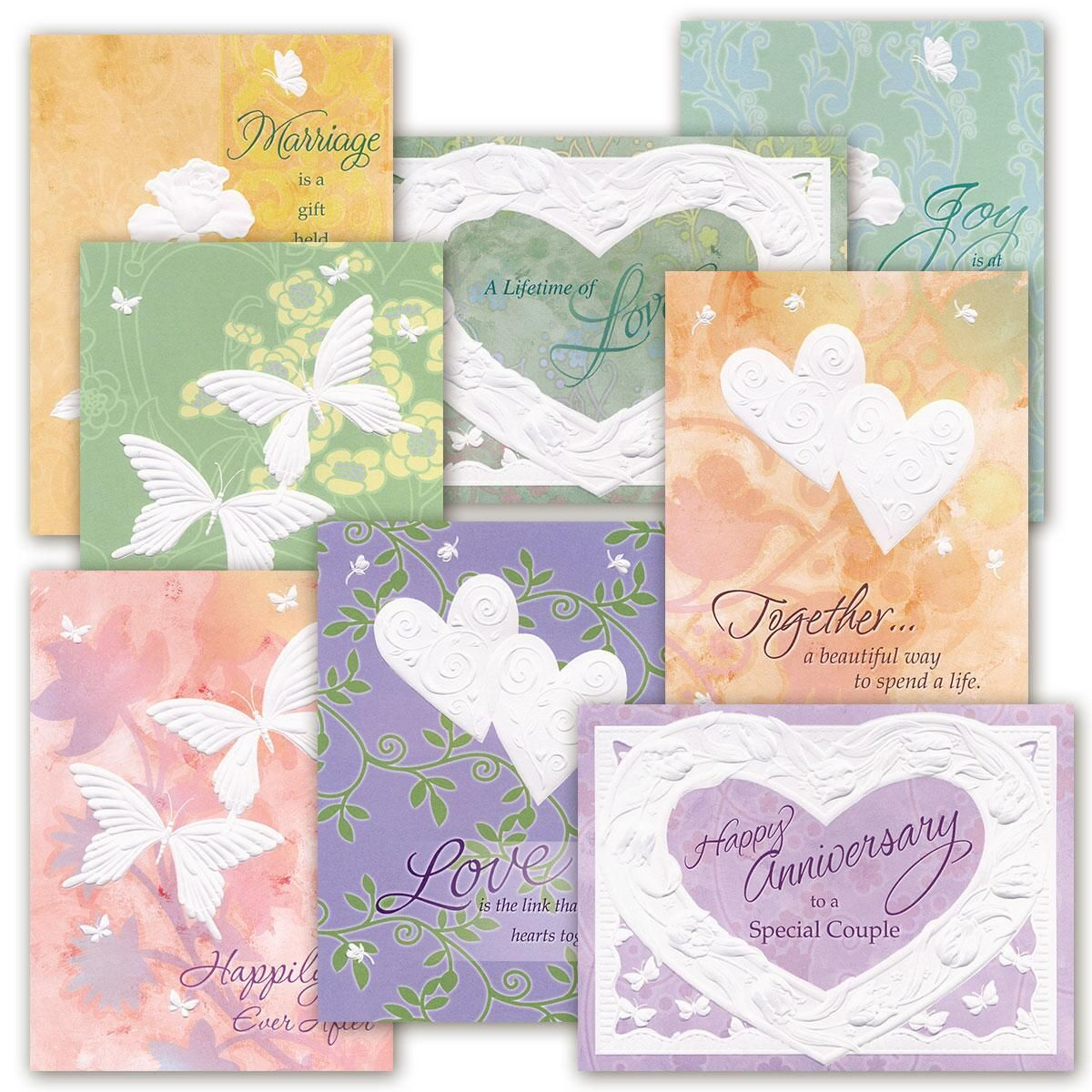 Deluxe Embossed Anniversary Cards Value Pack