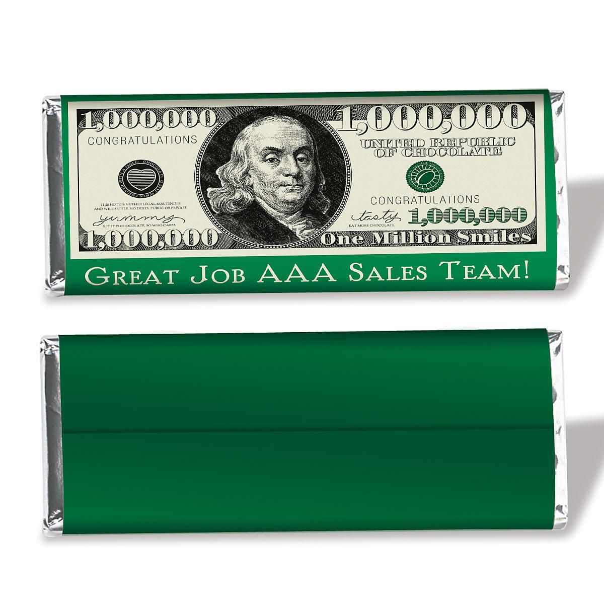 $1 Million Dollar Candy Bar Wrapper