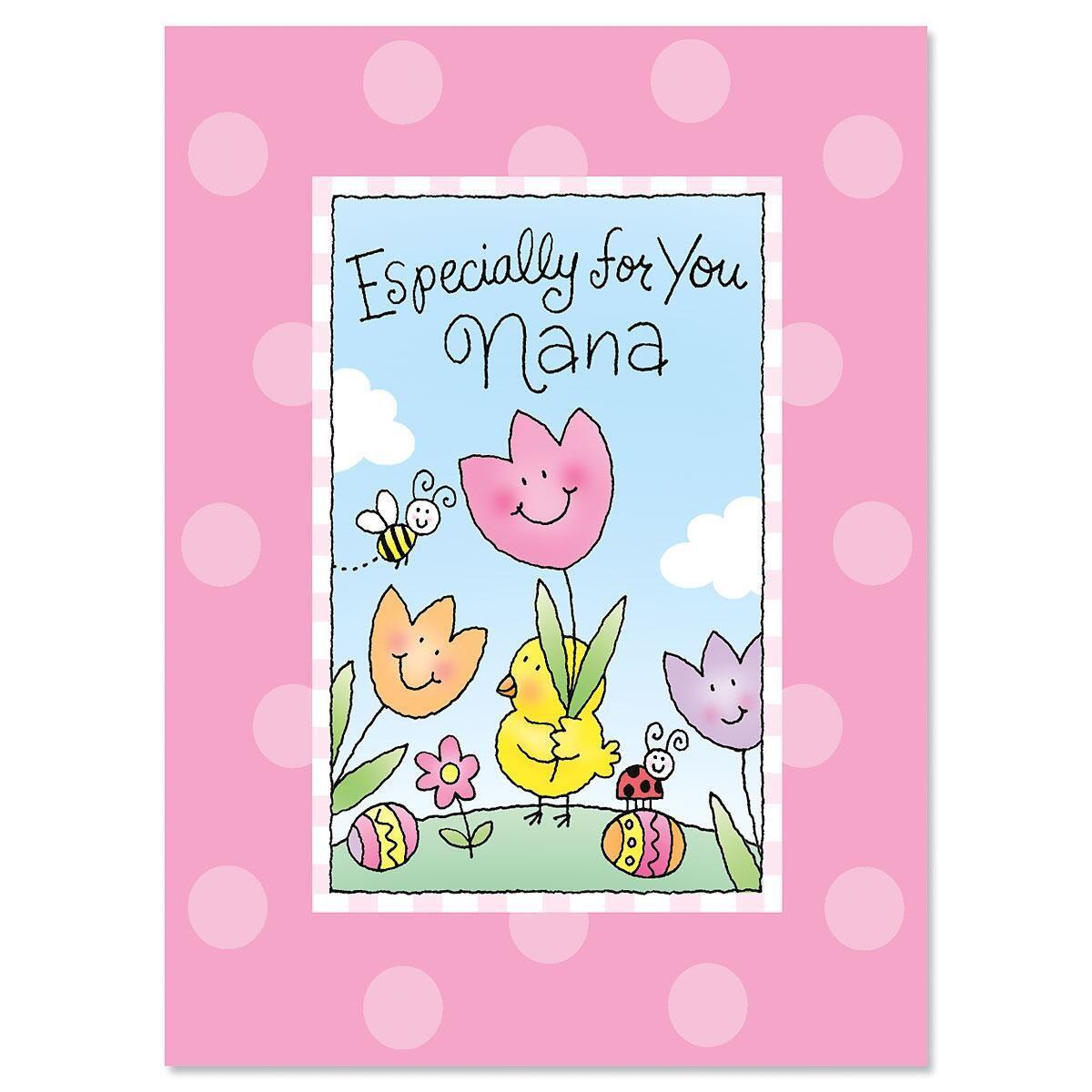 To Nana Easter Card