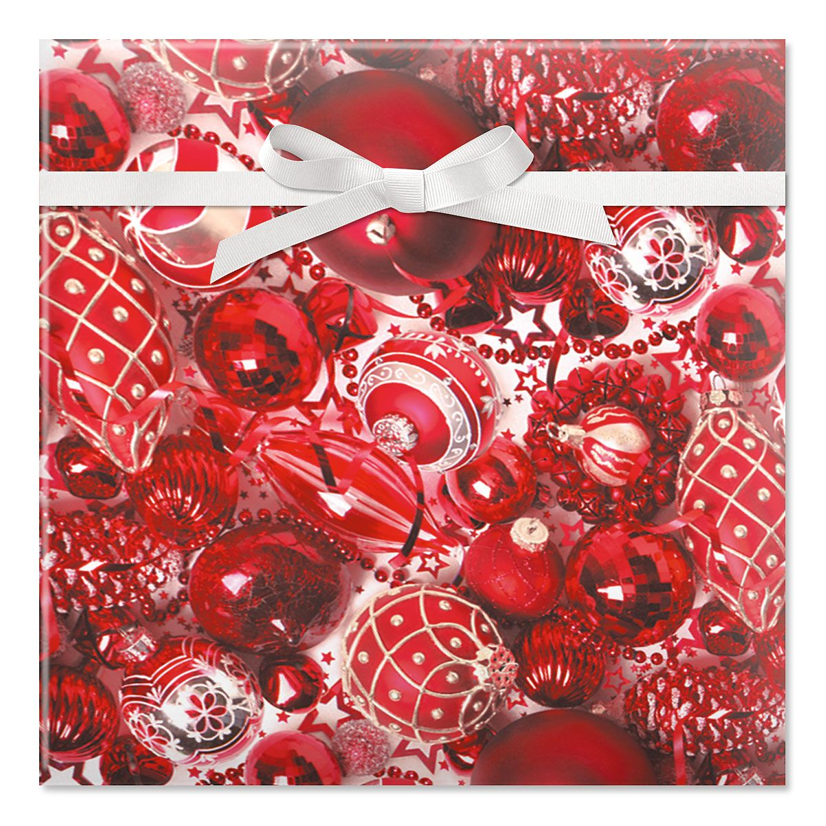 Ruby Ornaments Jumbo Rolled Gift Wrap