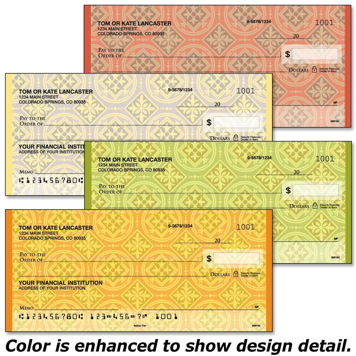 Italian Tile  Single Checks