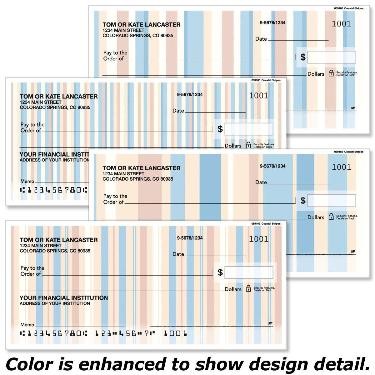 Coastal Stripes  Duplicate Checks
