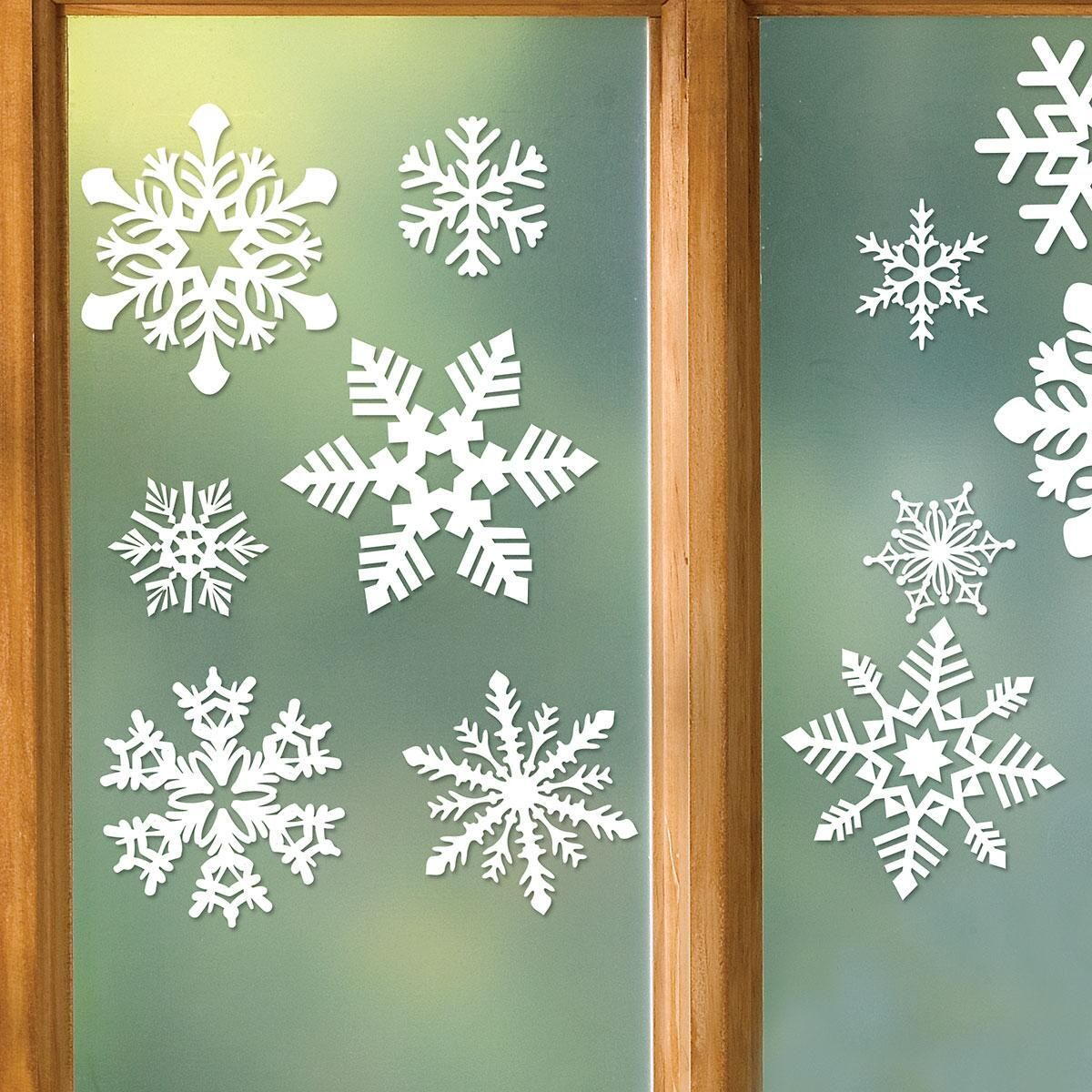 Snowflake Vinyl Clings