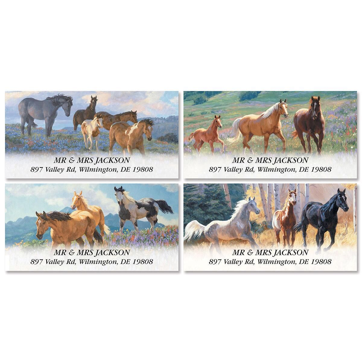 Horse Play Deluxe Address Labels  (4 Designs)