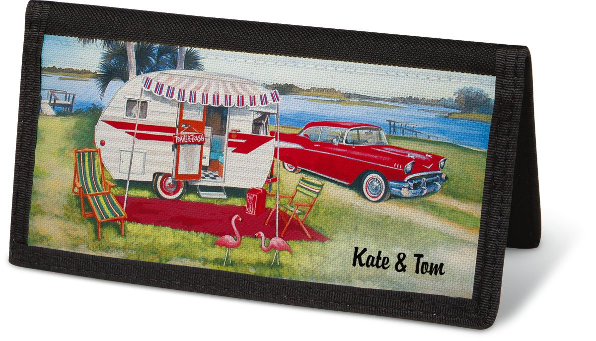 Vintage Trailer Checkbook Covers - Non-Personalized