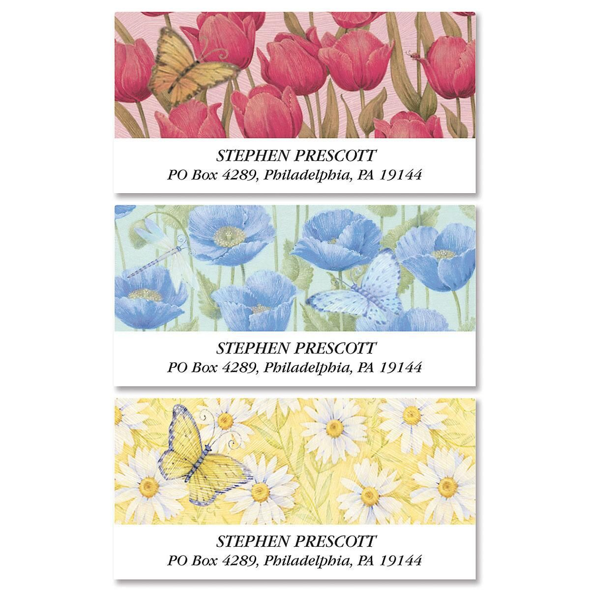 Butterflies & Blossoms Deluxe Address Labels  (3 designs)
