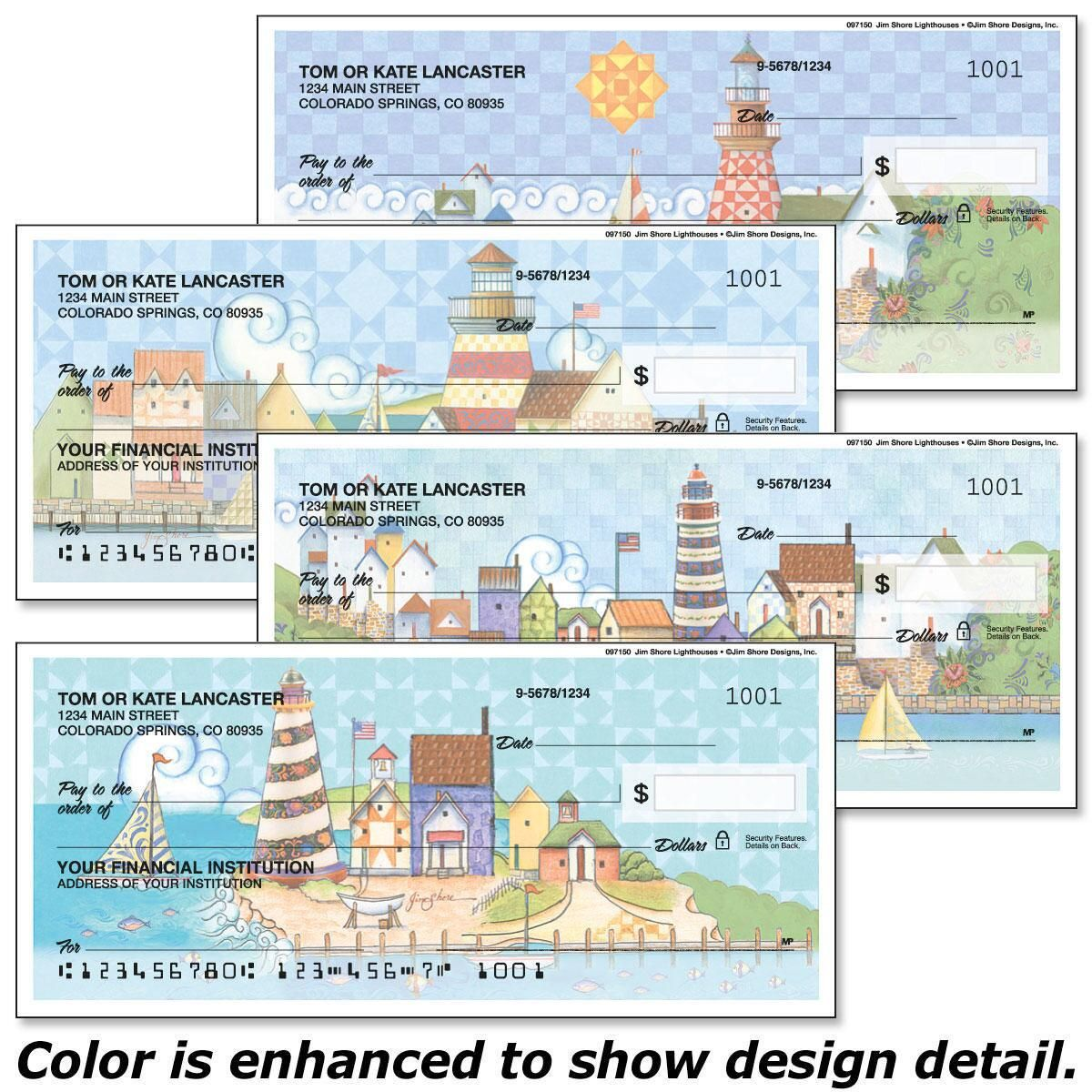 Lighthouses by Jim Shore  Design Studio™ Premium Single Checks